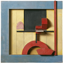 Merz 1925, 1. Relief in the Blue Square, Kurt Schwitters