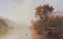El lago George, John Frederick Kensett