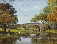 The Old Bridge, Theodore Robinson
