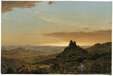 Cruz en un paisaje agreste, Frederic Edwin Church