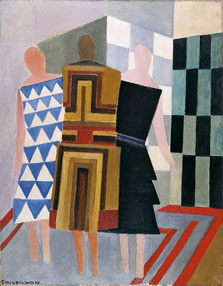 Simultaneous Dresses (Three Women, Forms, Colours), Sonia Delaunay-Terk