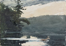 Deer in the Adirondacks, Winslow Homer