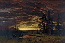 Evening on the Prairie, Albert Bierstadt