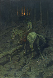 Apache Fire Signal, Frederic Remington
