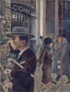 Street Scene (Kurfürstendamm), George Grosz