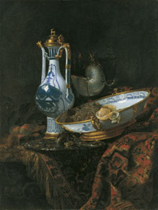 Still Life with Ewer and Basin, Fruit, Nautilus Cup and Other Objects, Willem Kalf