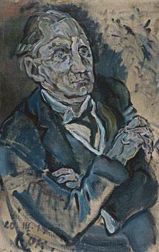 Portrait of Max Schmidt, Oskar Kokoschka