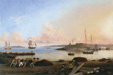 El fuerte y la isla Ten Pound, Gloucester, Massachusetts, Fitz Henry Lane
