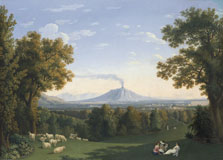 Landscape with the Palace at Caserta with the Vesuvius, Jacob Philipp Hackert