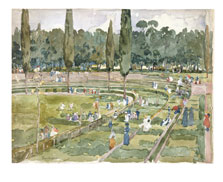 The Race Track (Piazza Siena, Borghese Gardens, Rome), Maurice Prendergast