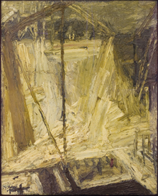 The Shell Building Site, from the Thames, Frank Auerbach