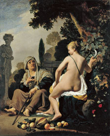 Vertumnus and Pomona, Caesar van Everdingen
