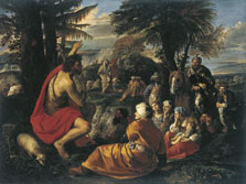 Saint John the Baptist preaching in the Desert, Pier Francesco Mola