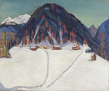 The Junkerboden under Snow, Ernst Ludwig Kirchner