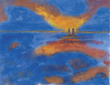Red Clouds, Emil Nolde