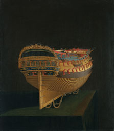 Model of a Ship, Bow View,  English Anonymous Artist