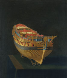 Model of a Ship, Stern View,  English Anonymous Artist