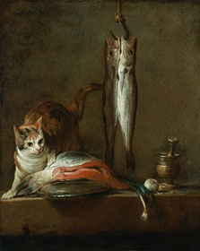 Still Life With Cat and Fish,  Chardin