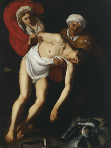 Saint Sebastian Tended by Saint Irene and her Maid, Attributed to Dirck Jaspersz. van  Baburen