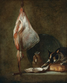 Still Life With Cat and Rayfish,  Chardin