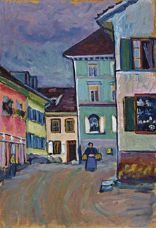Murnau. Top of the Johannisstrasse, Wassily Kandinsky