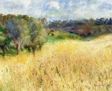 Wheatfield, Pierre-Auguste Renoir