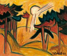 Sol sobre un pinar, Karl Schmidt-Rottluff