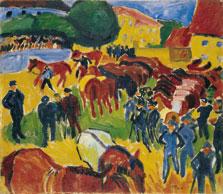 Horse Fair, Max Pechstein