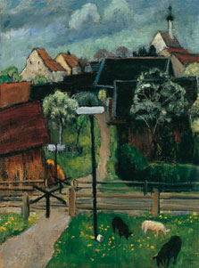 Murnau (Murnau in May), Gabriele Münter
