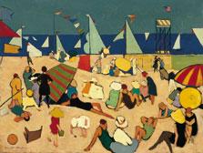 Bañistas en la playa, Walt Kuhn