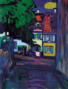 Murnau, Houses in the Obermarkt, Wassily Kandinsky