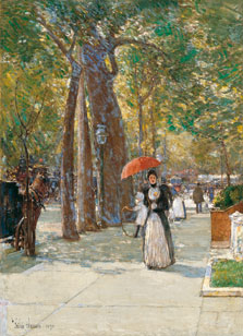 La Quinta Avenida en Washington Square, Nueva York, Childe Hassam