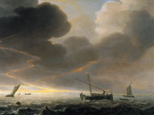 Thunderstorm off the Coast, Simon De Vlieger