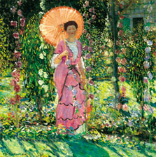 Hollyhocks, Frederick Carl Frieseke