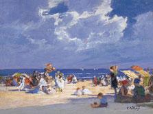 Beach Scene, Edward Henry Potthast