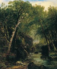 Pescador de truchas, John Frederick Kensett