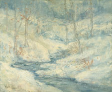Paisaje nevado, John Henry Twachtman