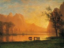 Sundown at Yosemite, Albert Bierstadt