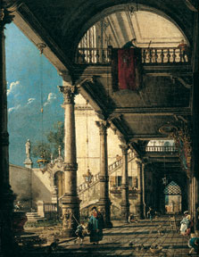 Capriccio with Colonnade in the Interior of a Palace,  Canaletto  (Giovanni Antonio Canal)