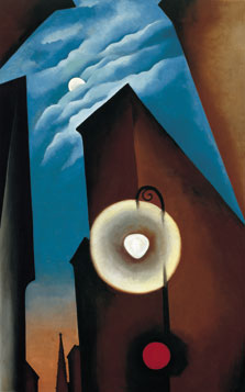 New York Street with Moon, Georgia O'Keeffe