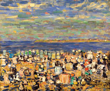 Beach at St. Malo, Maurice Prendergast
