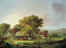 Autumn in New England, Cider Making, George Henry Durrie