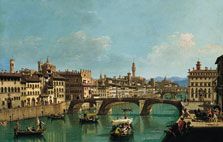 The Arno River at the Santa Trinita Bridge, Giuseppe Zocchi