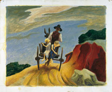 Going Home, Thomas Hart Benton