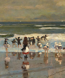 Beach Scene, Winslow Homer