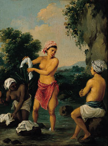 Three Caribbean Washerwomen by a River, Agostino Brunias