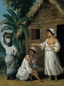 Caribbean Women in front of a Hut, Agostino Brunias