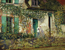 The House in Giverny, Frederick Carl Frieseke