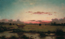 The Marshes at Rhode Island, Martin Johnson Heade