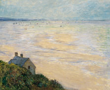 The Hut in Trouville, Low Tide, Claude Monet